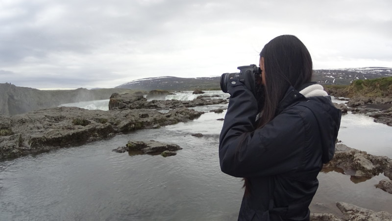 Pictures at Godafoss Waterfall, Iceland