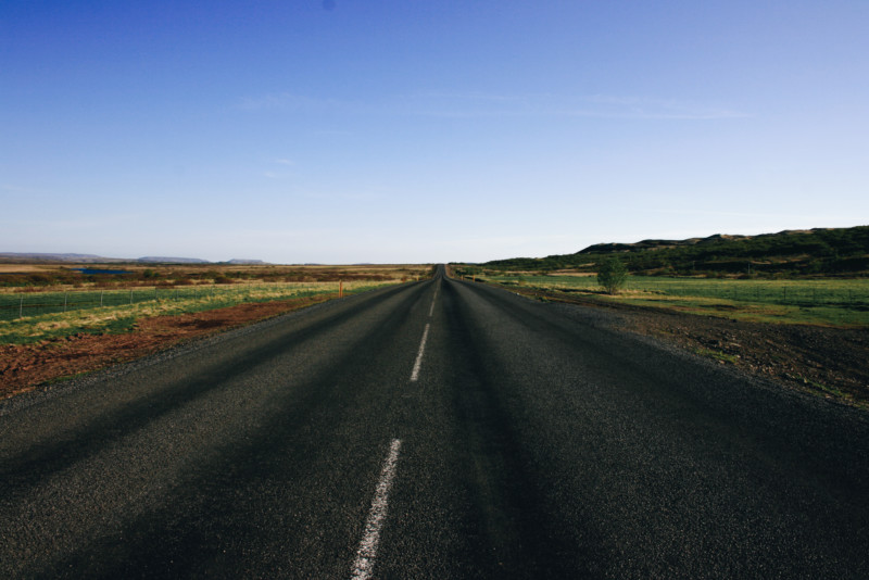 Golden Circle Paved Road, Iceland