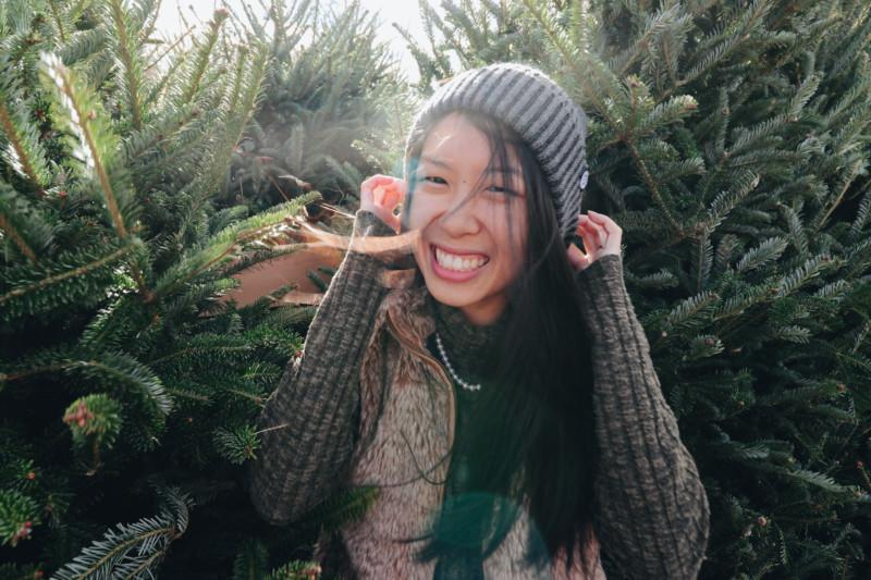 Kim at Totoket Tree Farm, North Branford, CT