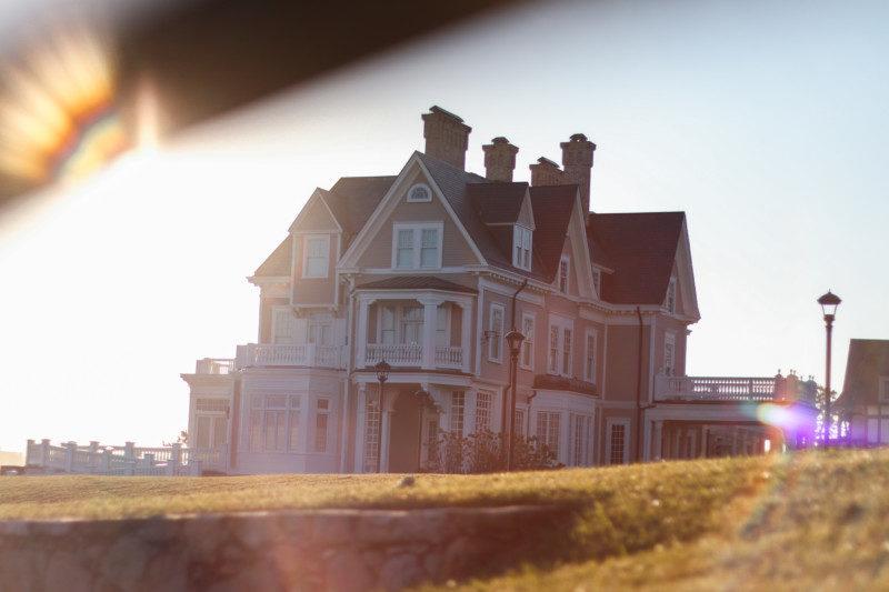 Newport Mansions off the Cliffwalk, RI