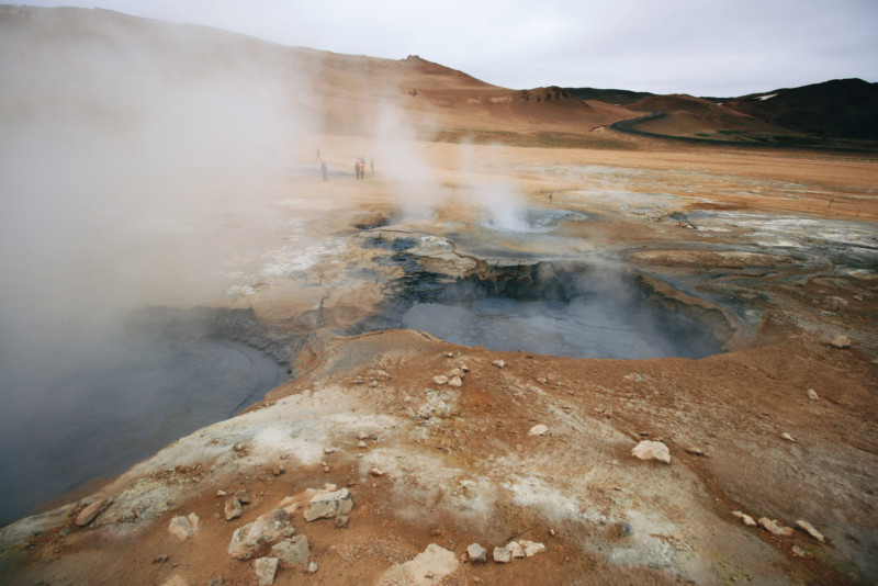 Geothermal Activity in Myvatn, Iceland