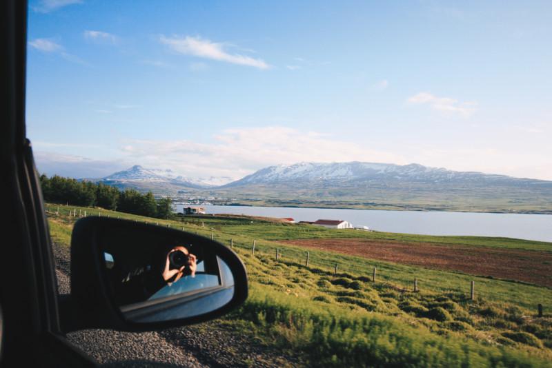 Akureyri Among the Mountains, Iceland