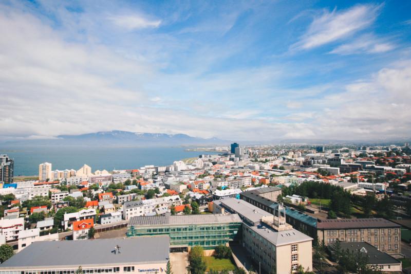 Amazing view from Hallsgrimkirkja Church, Reykjavik, Iceland