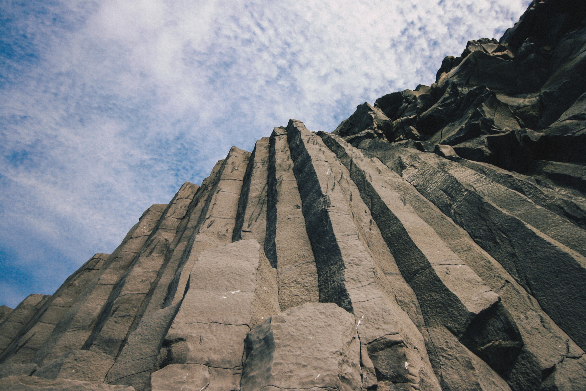 Basalt Columns on Black Sand Beach in Reynisfjara, Iceland