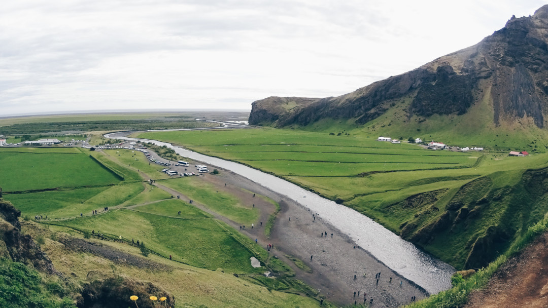 View from the top of Skogafoss Iceland