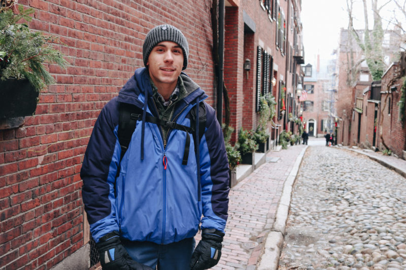 Dan on Acorn Street, Beacon Hill, Boston