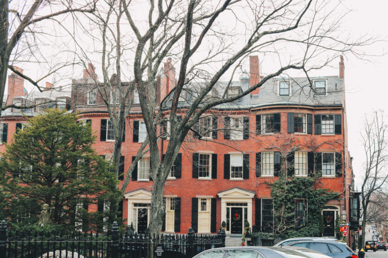 Beacon Hill Neighborhood during Christmas, Boston