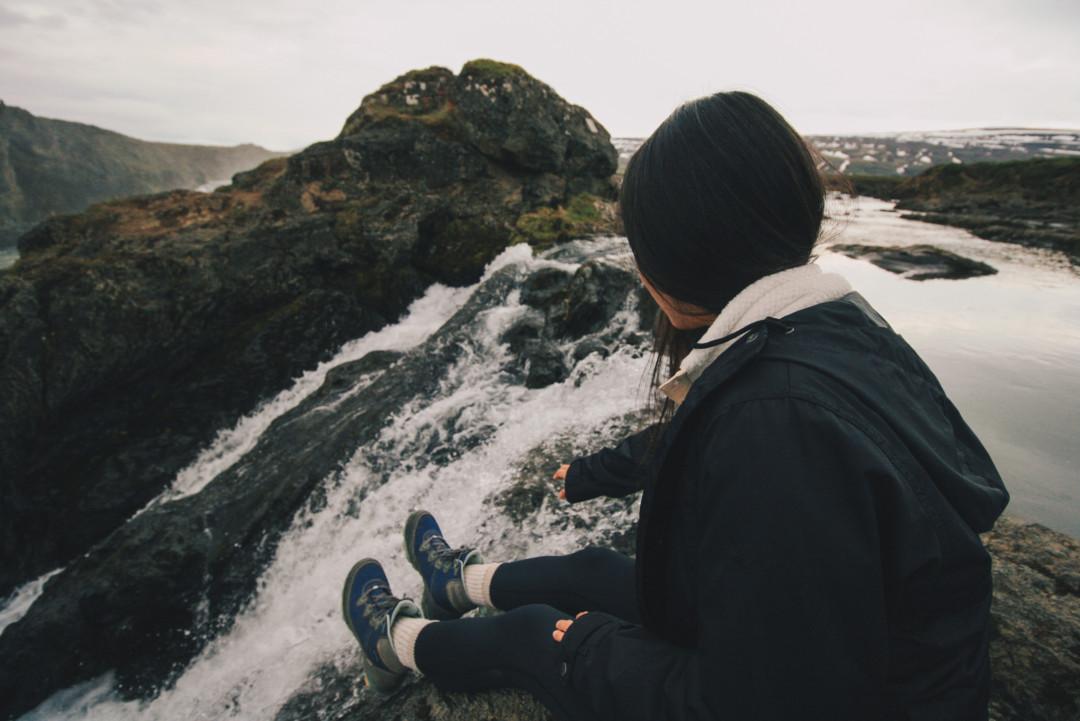 Exploring Godafoss Waterfall Iceland