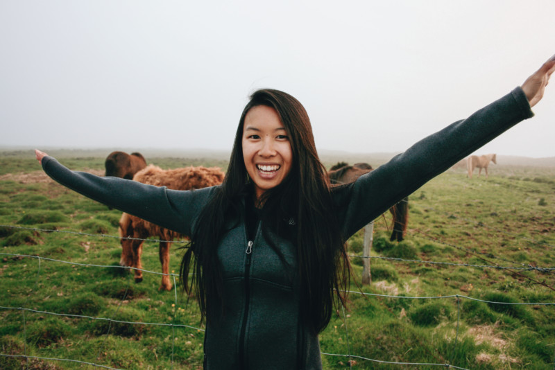 Happy with Icelandic Horses
