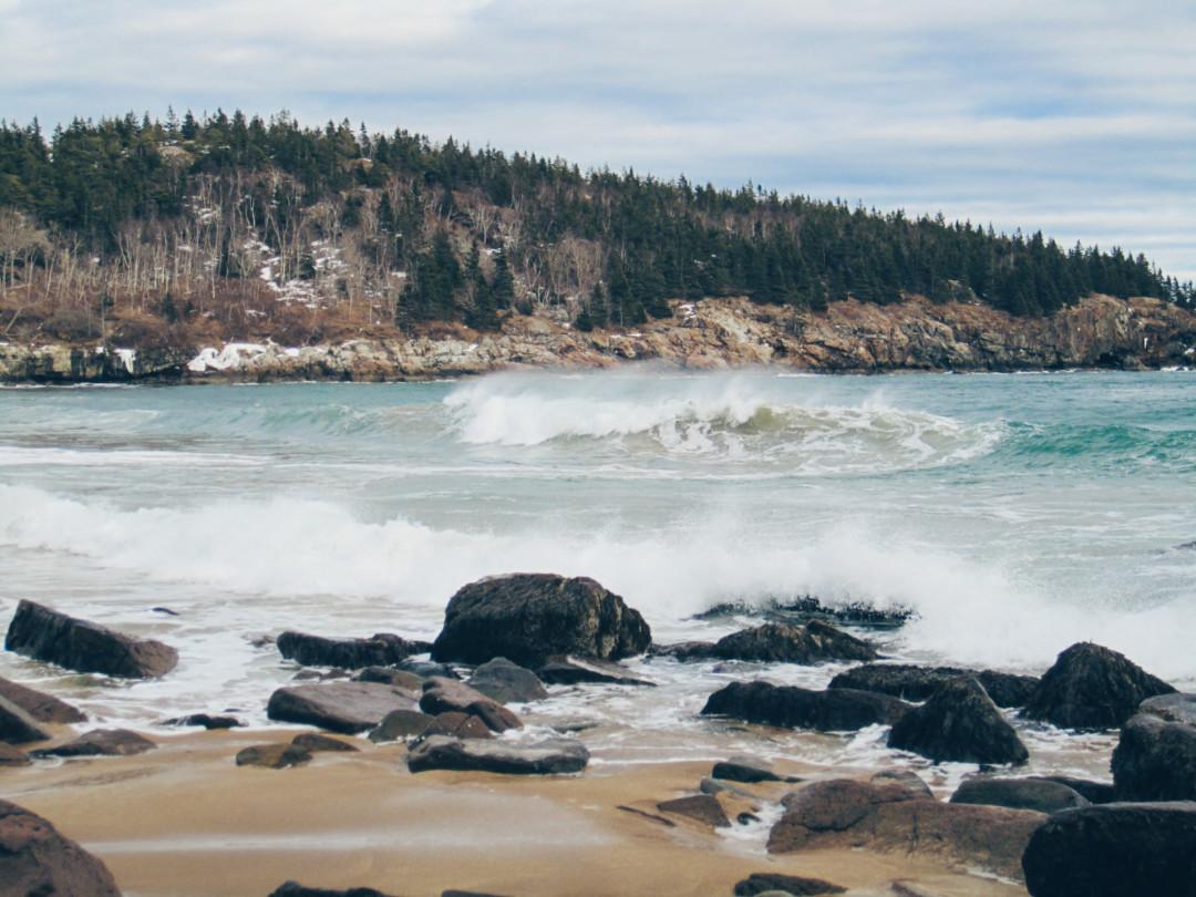 Sand Beach Waves, Acadia National Park, Maine