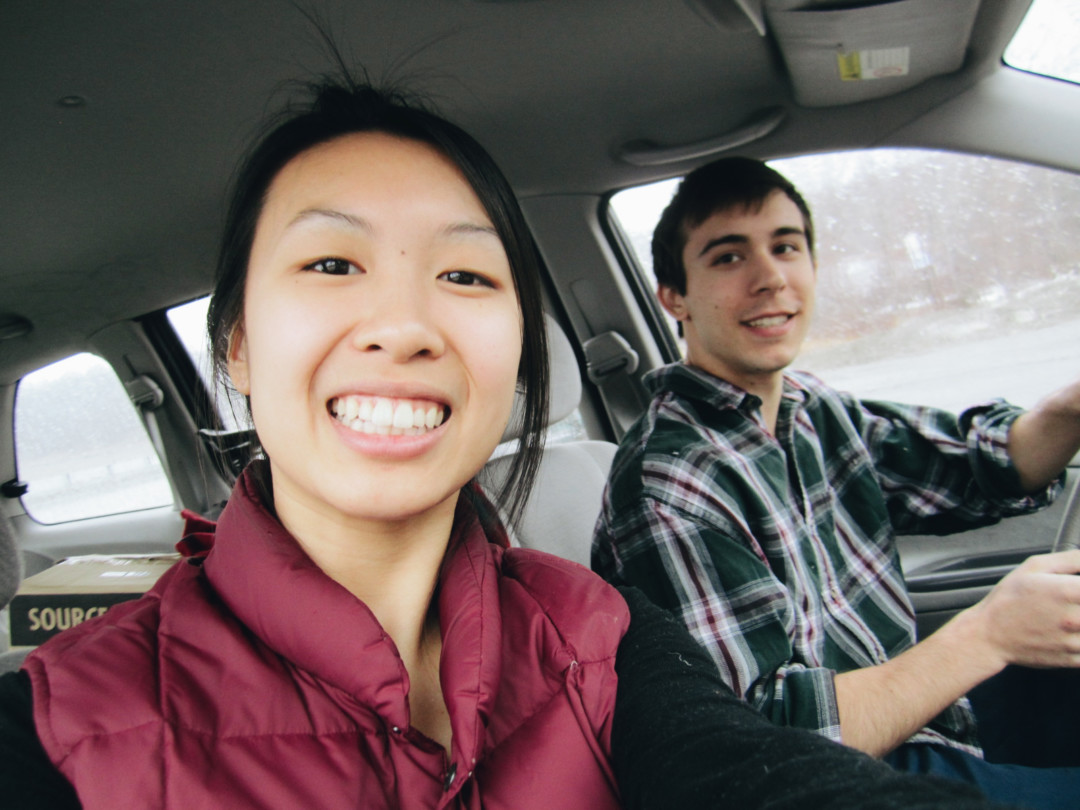 Driving to Acadia National Park, Maine