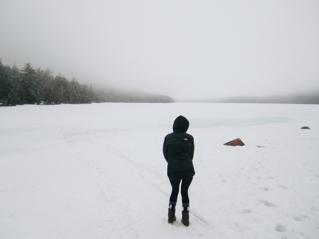 Jordan Pond, Acadia National Park in the Winter, Maine