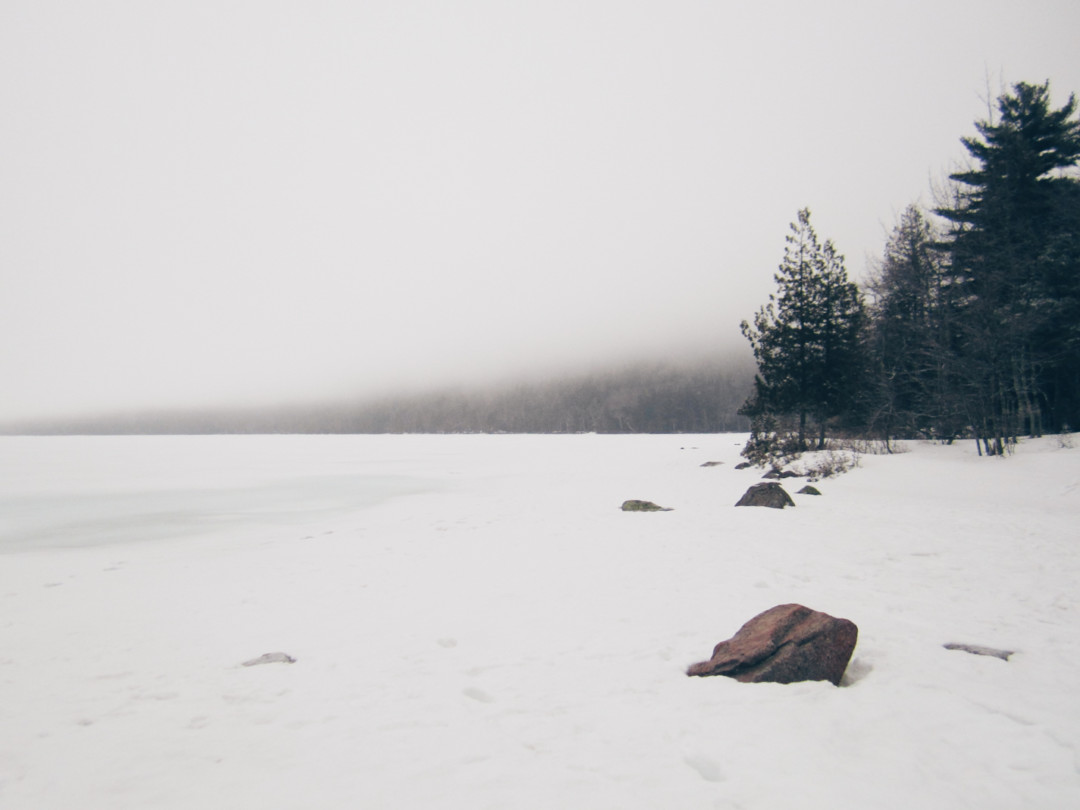 Jordan Pond, Acadia National Park in the Winter, Maine