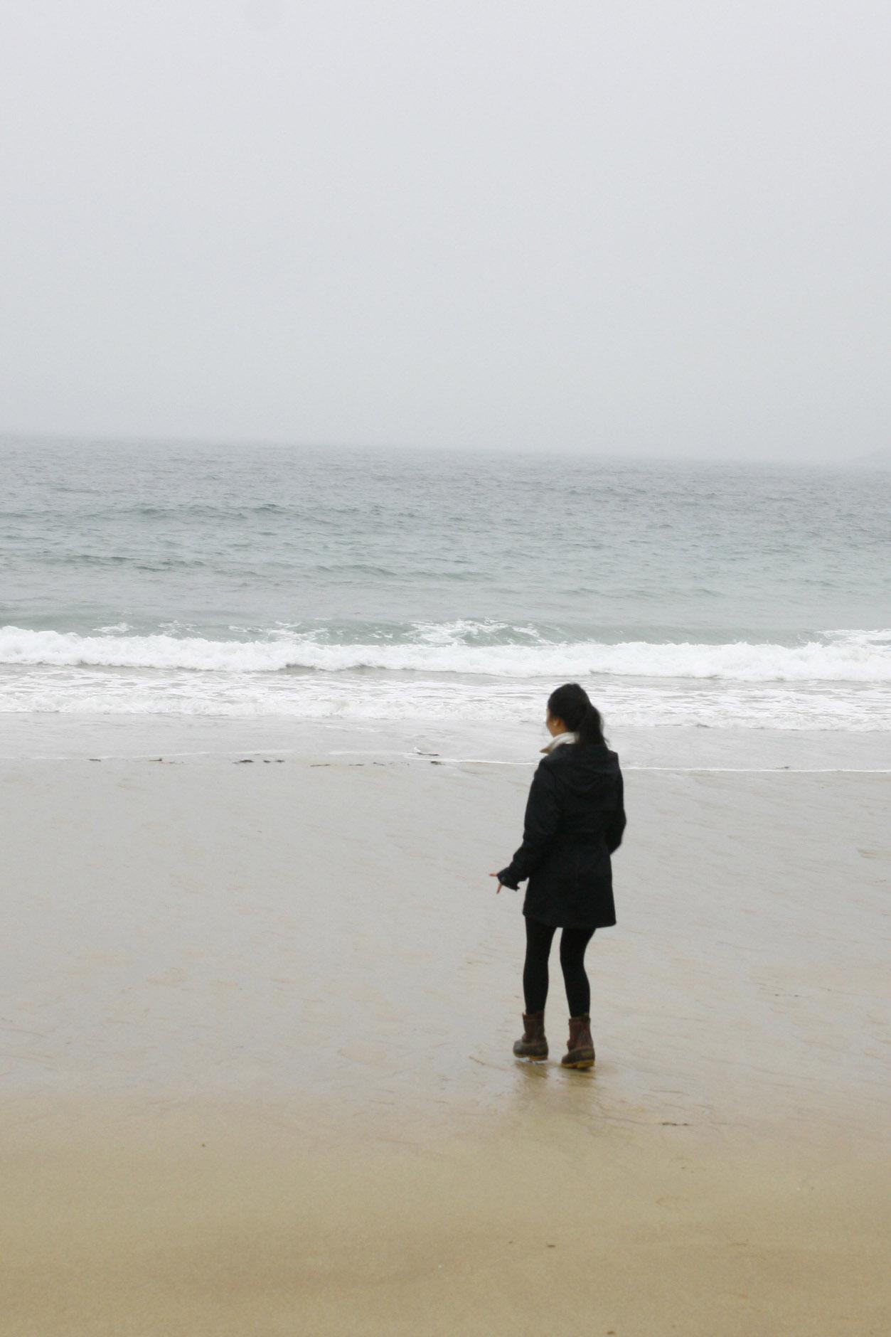 Sand Beach in the Winter, Acadia National Park, Maine