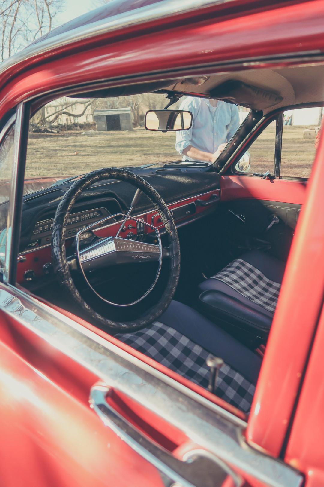Interior of 1968 Volvo Amazon
