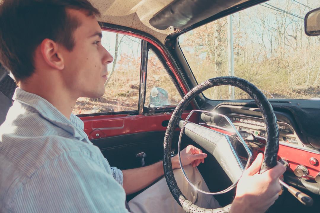 Dan Test Driving the 1968 Volvo Amazon