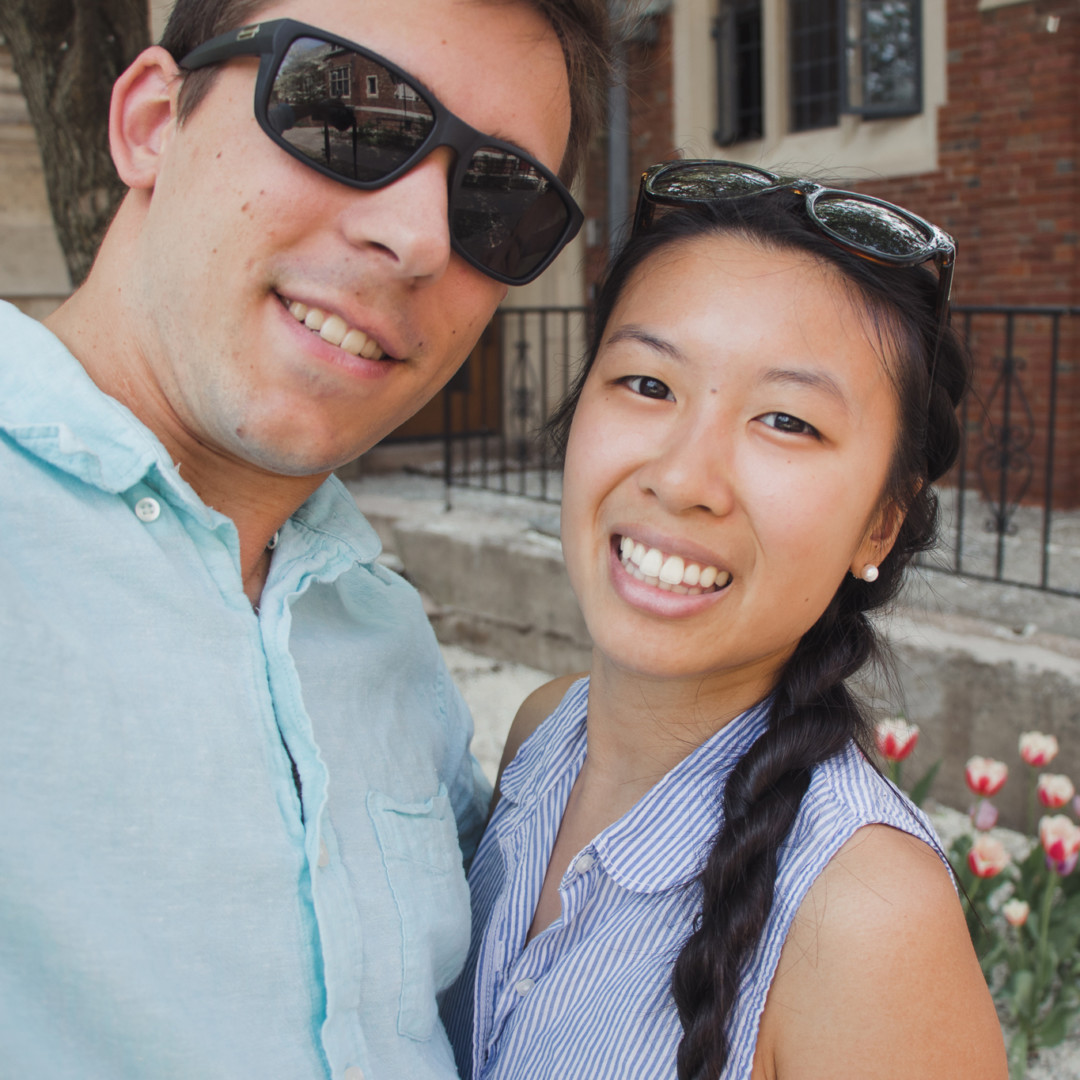 Dan and Kim at Yale University