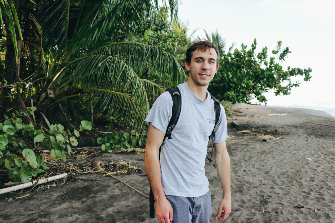 Dan in Tortuguero Beach, Costa Rica