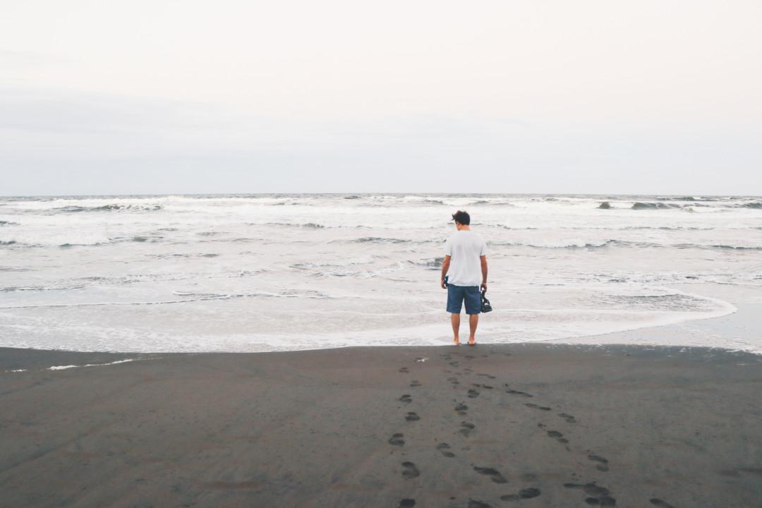 At Tortuguero Beach in Costa Rica