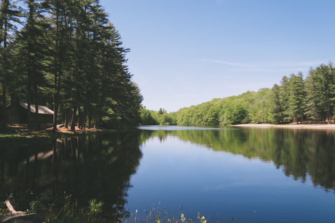 Pond at Chatfield Hollow State Park in Killingworth, Connecticut