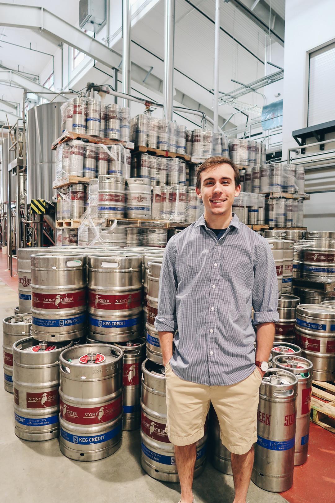 Dan touring the Stony Creek Brewery, Branford, CT