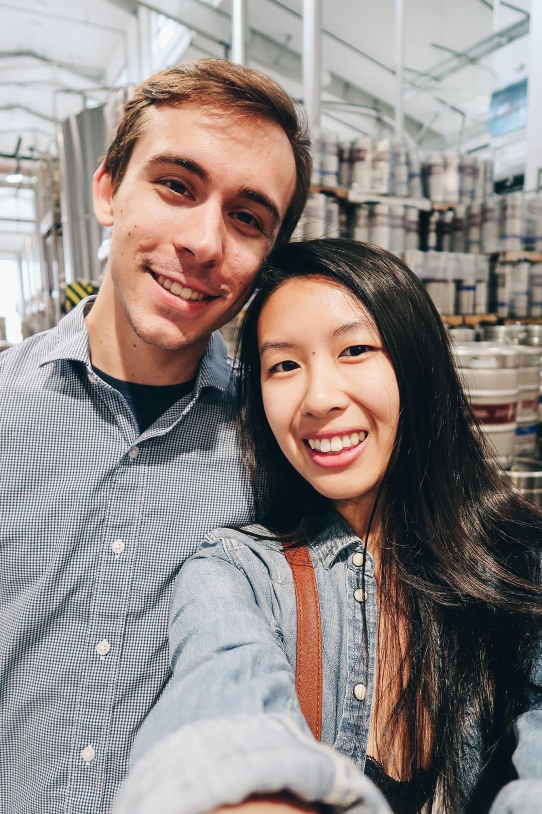Kim and Dan touring Stony Creek Brewery, Branford, CT