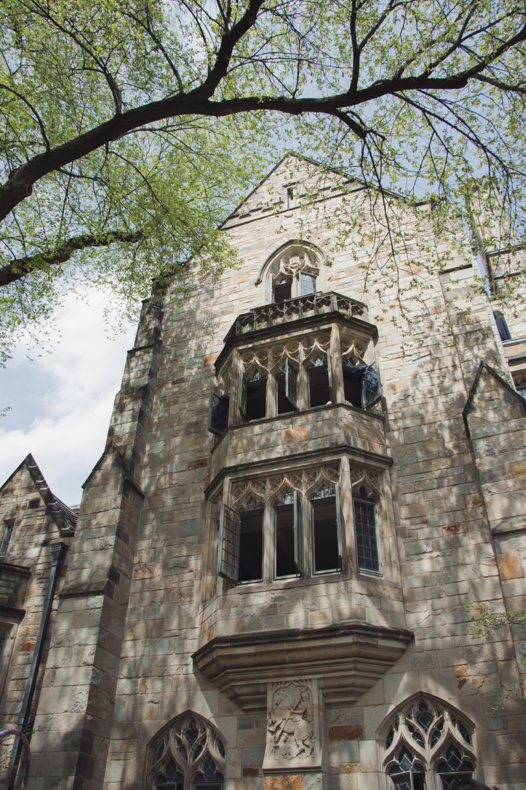Branford College at Yale University during spring time