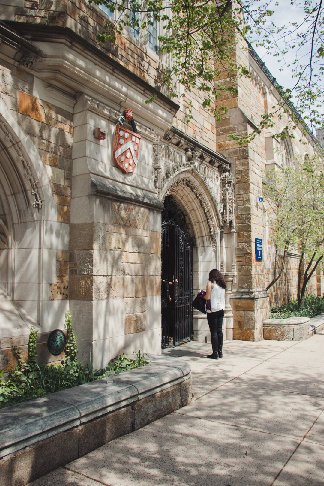 Entrance of Berkeley College at Yale University, New Haven, CT