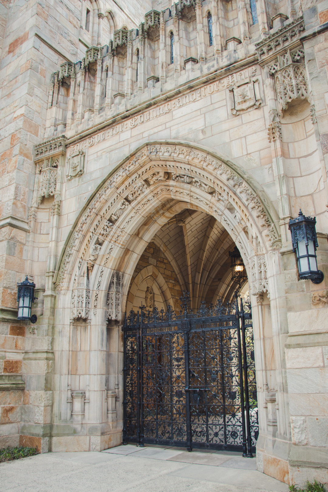 Entrance into Branford Court at Yale University, New Haven, CT