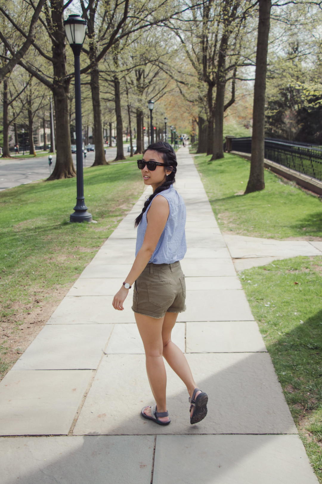 Outfit of the Day on Yale's Campus, New Haven, CT