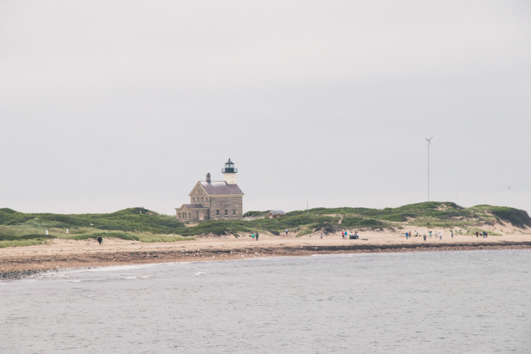 North LIghthouse on Block Island from afar