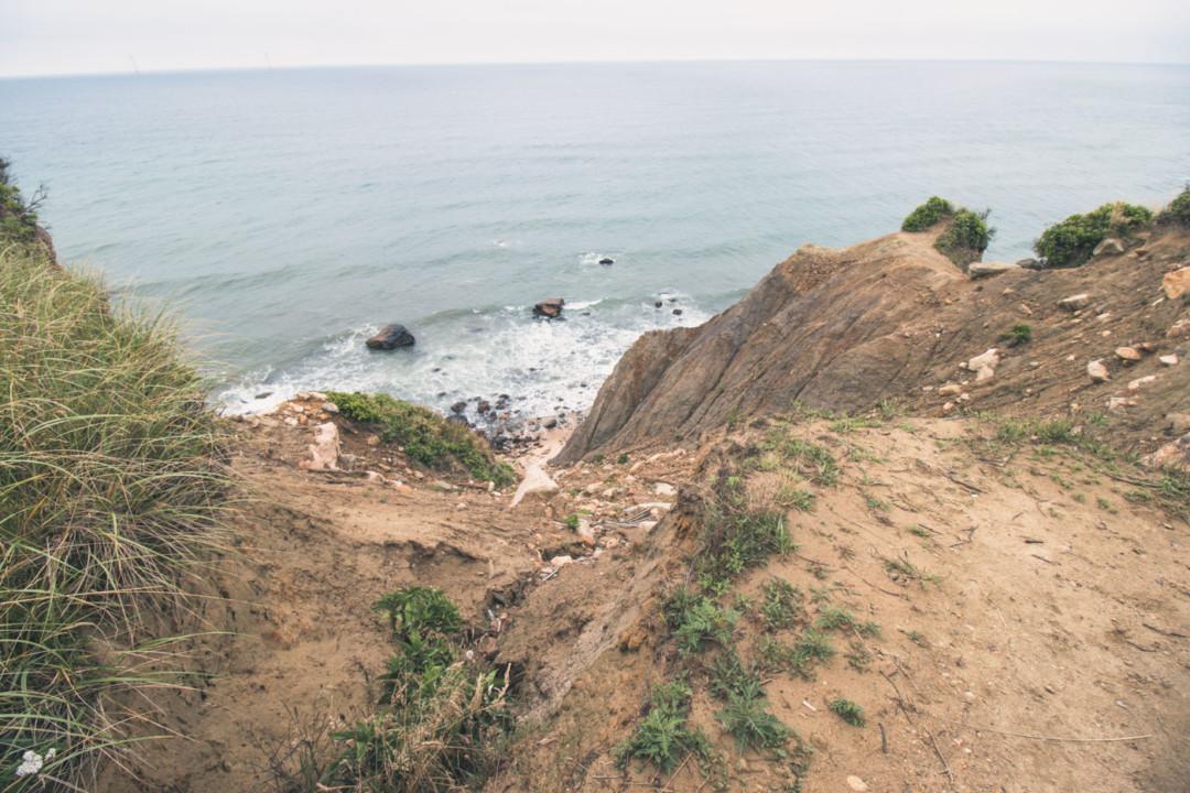 Block Island overlooking beach and bluffs