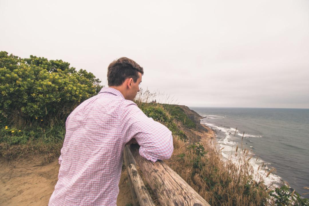 Dan at the Block Island overlook