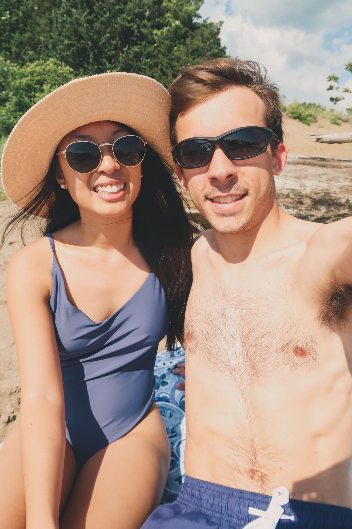 Kim and Dan at the beach