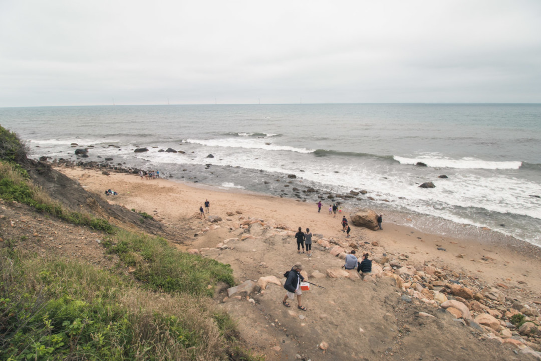 Mohegan Bluffs beach on Block Island