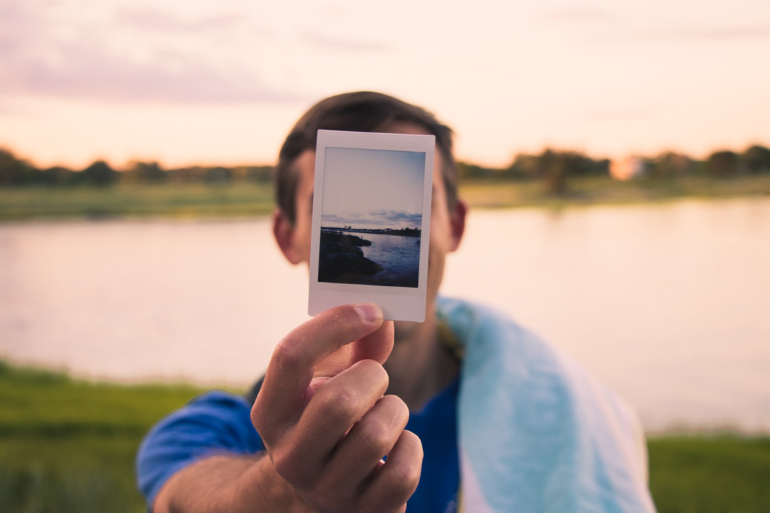 Fujifilm Instax film by the water