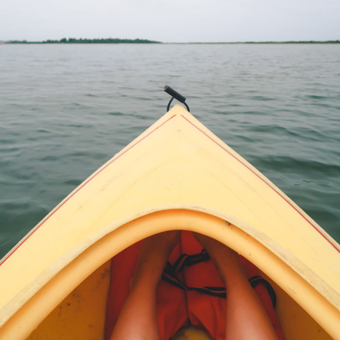 Kayaking at the Great Salt Pond on Block Island