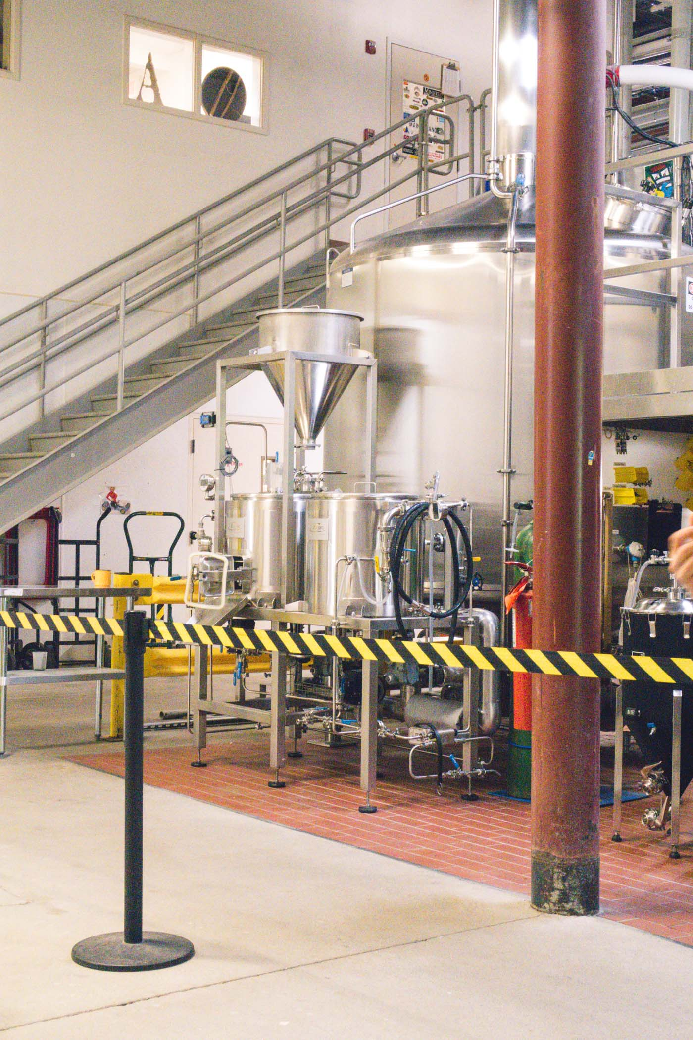 Machinery at Allagash Brewing Co., Portland, Maine