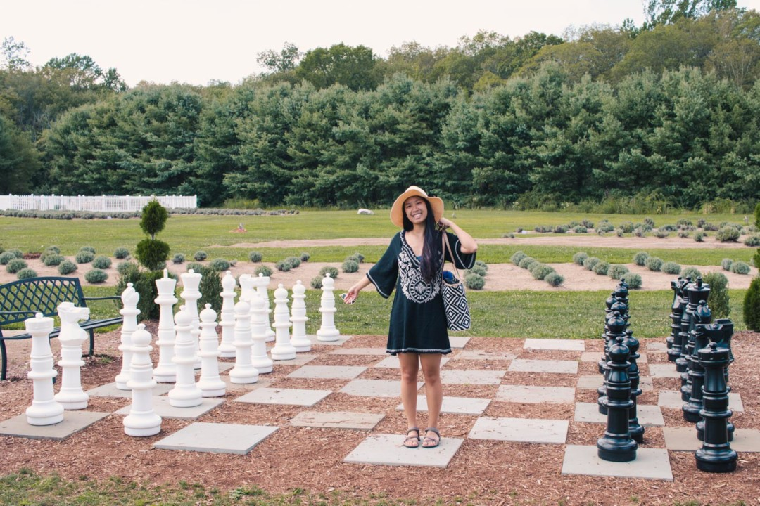 Oversize Chess at Lavender Pond Farm