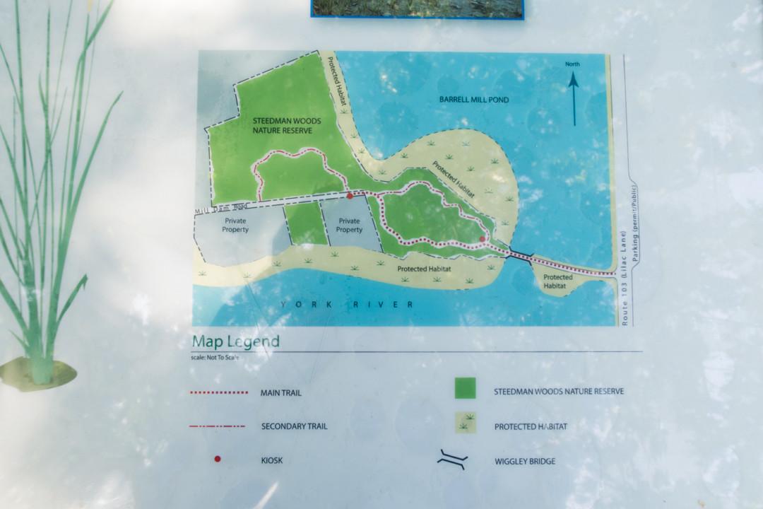 Map of Steedman Woods Nature Reserve