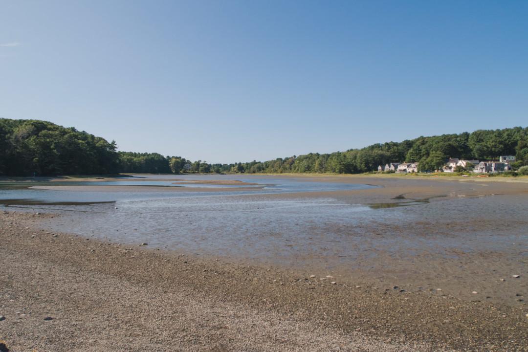 View at Wiggly Bridge, York, Maine