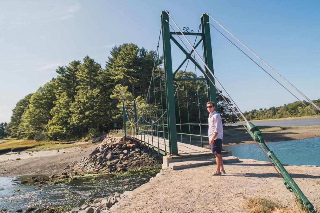 Dan at the Wiggly Bridge in York, Maine