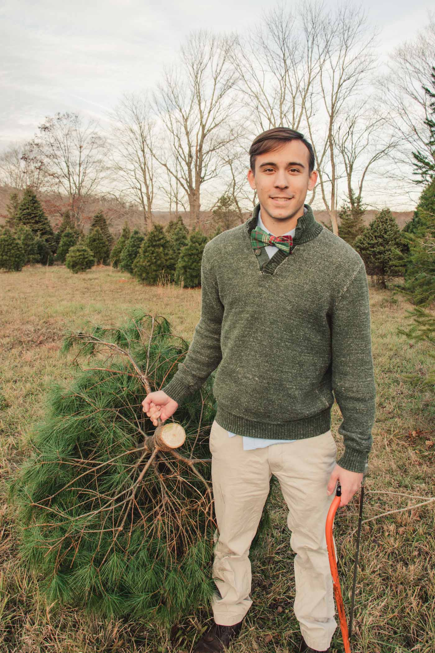 Chopping down the Christmas tree - Simply Lovebirds - New England Lifestyle Blog