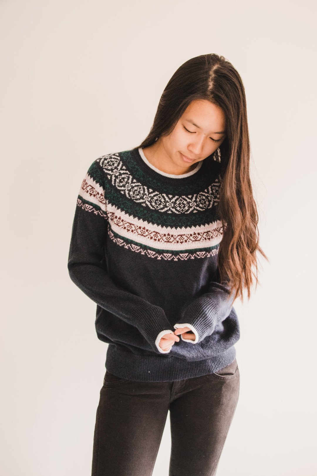 Fair Isle Classic Christmas Sweater from Hollister - Simply Lovebirds