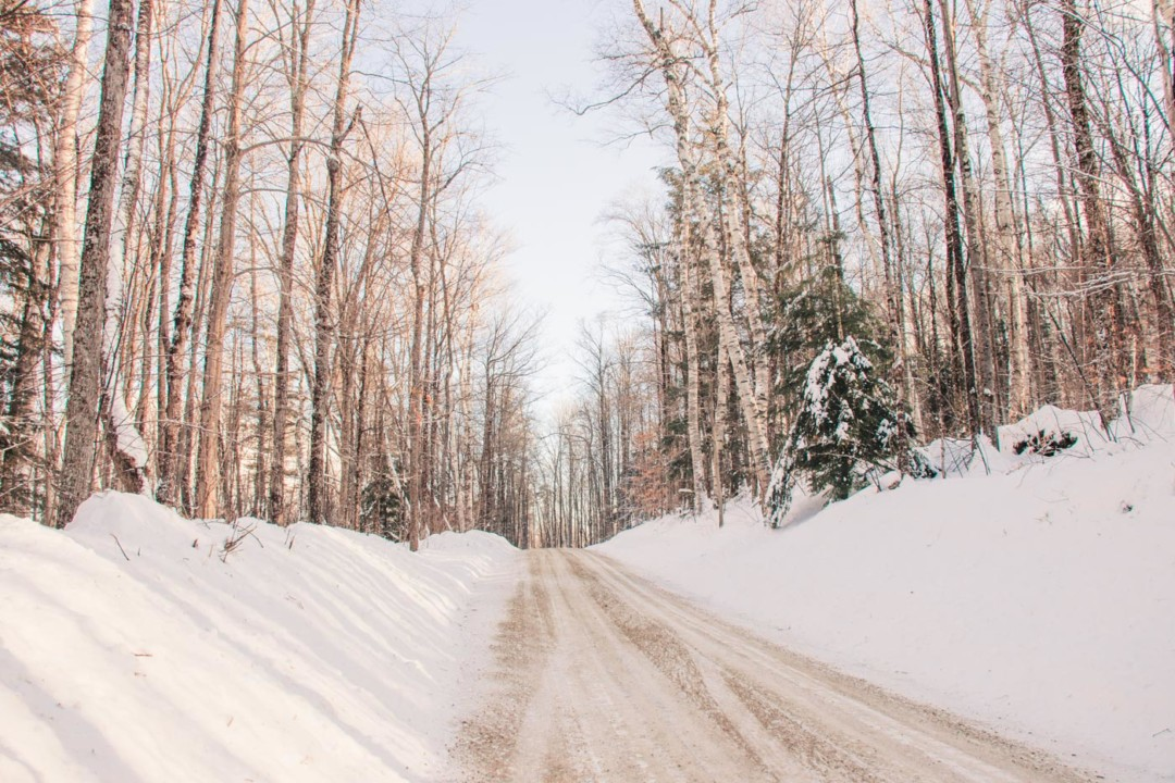 Driving in Grafton, Vermont in the Winter