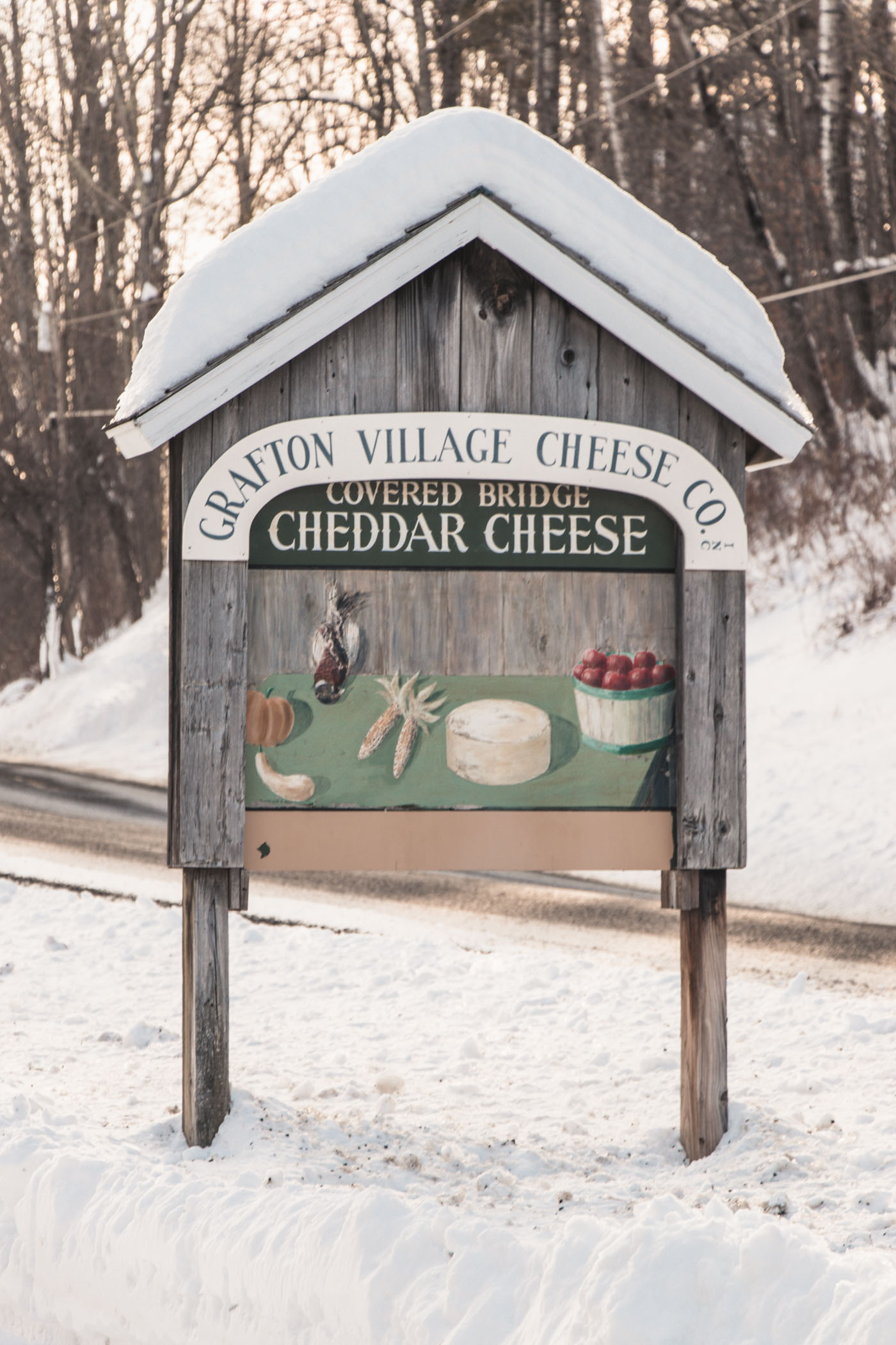 Grafton village Cheese Co., Vermont in the Winter - Simply Lovebirds