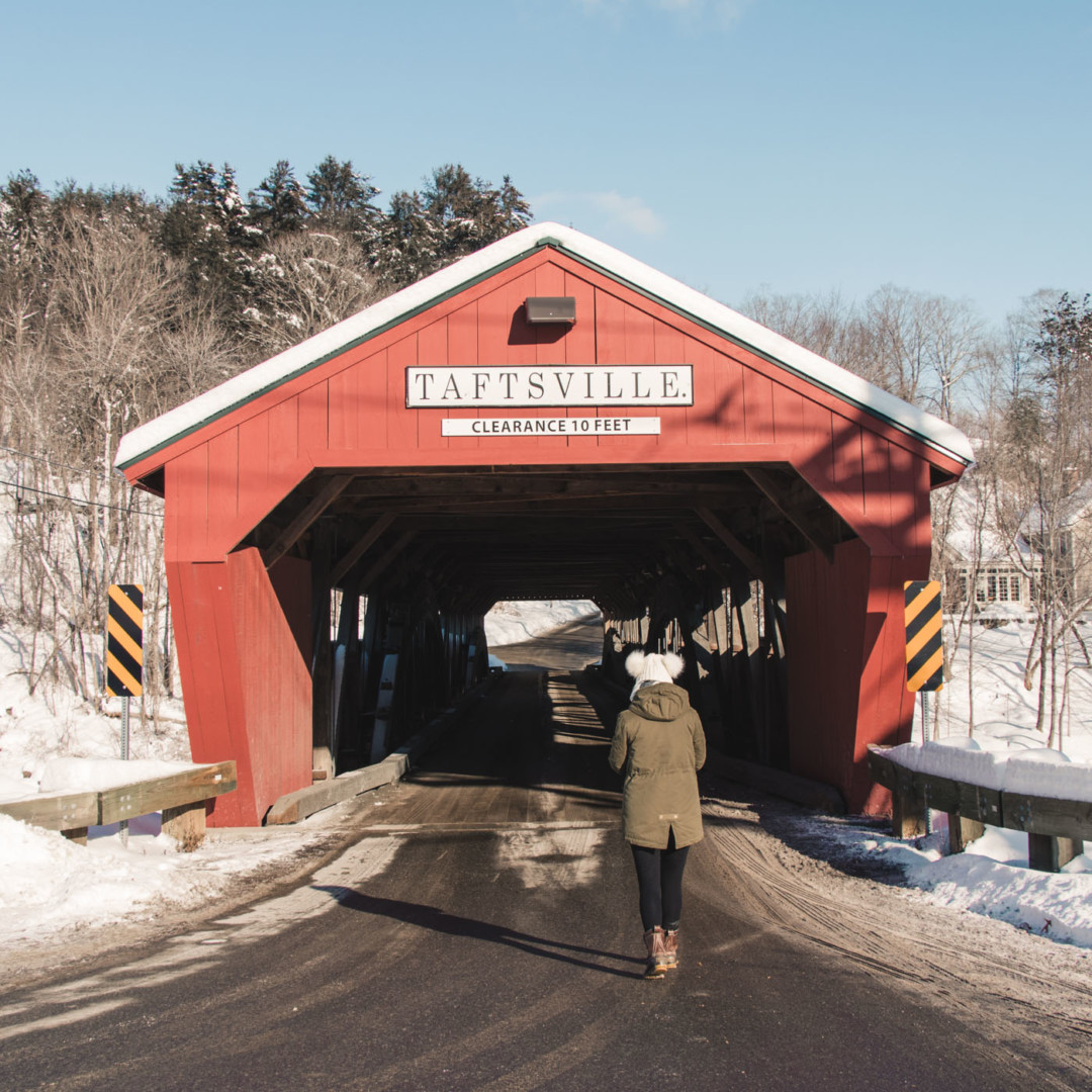 Taftville Covered Bridge in Vermont - Simply Lovebirds - New England Lifestyle Blog